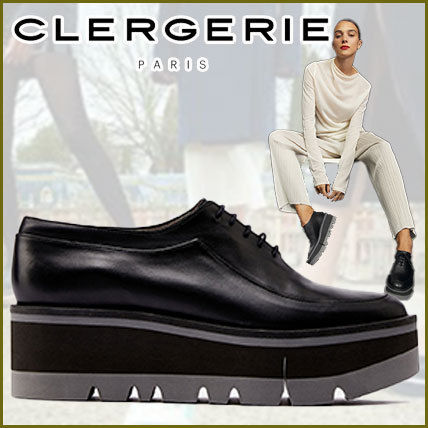 Stripes Platform Round Toe Rubber Sole Casual Style