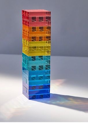 Urban Outfitters Sunnylife Lucite Jumbling Tower Game