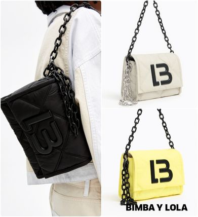 Logo Casual Style Shoulder Bags