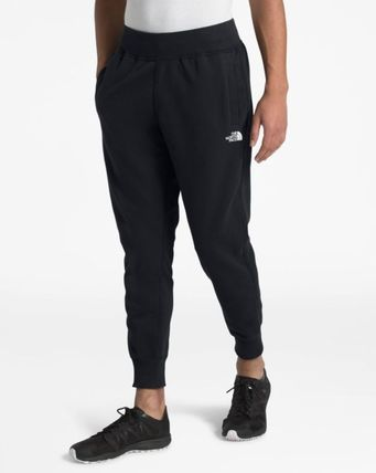 THE NORTH FACE Tapered Pants Unisex Street Style Plain Cotton Logo
