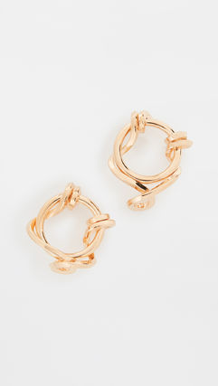 TIMELESS PEARLY Casual Style Party Style Brass Elegant Style Earrings