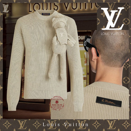 Louis Vuitton Sweaters Crew Neck Pullovers Unisex Street Style Long Sleeves Plain