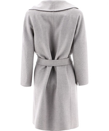 S Max Mara MESSI Wool Plain Medium Wrap Coats