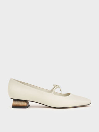 Charles&Keith Formal Style  Bridal Square Toe Casual Style Suede Monogram