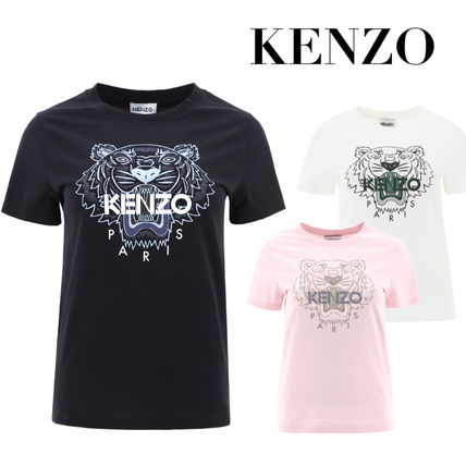 KENZO Cotton Short Sleeves Logo T-Shirts