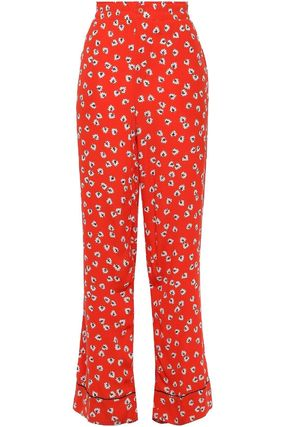 Printed Pants Flower Patterns Casual Style Long Party Style