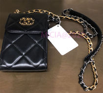CHANEL Plain Leather iPhone X iPhone XS Tech Accessories