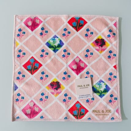 PAUL & JOE Flower Patterns Logo Handkerchief