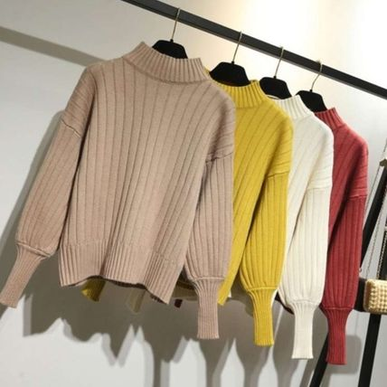 Cable Knit Gingham Tartan Casual Style Unisex Sweat Nylon