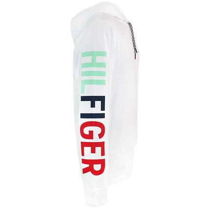 Tommy Hilfiger Logo Unisex Long Sleeves Plain Cotton Logos on the Sleeves