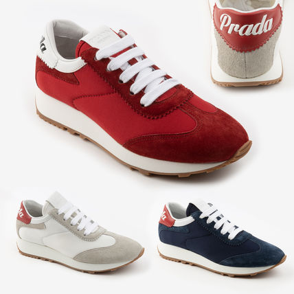 PRADA Casual Style Logo Low-Top Sneakers