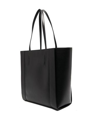 alexander mcqueen Street Style Leather Logo Totes
