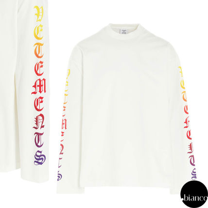 VETEMENTS Crew Neck Unisex Street Style Long Sleeves Cotton Tribal