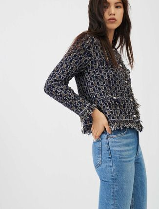 Formal Style  Wool Long Sleeves Medium Party Style