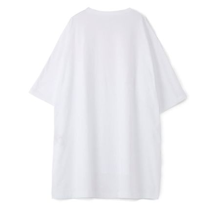 Yohji Yamamoto Crew Neck Unisex Plain Cotton Short Sleeves Oversized