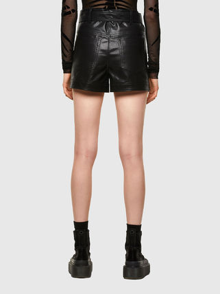 DIESEL Short Casual Style Faux Fur Blended Fabrics Street Style