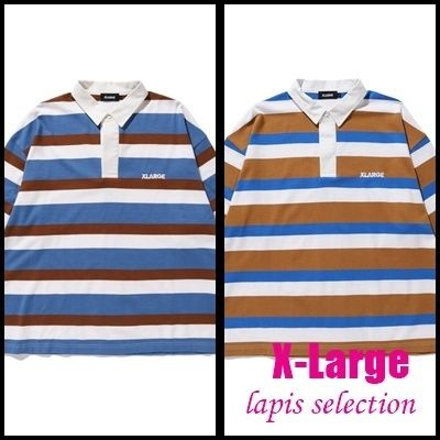 X-Large Polos Stripes Long Sleeves Cotton Polos Polos