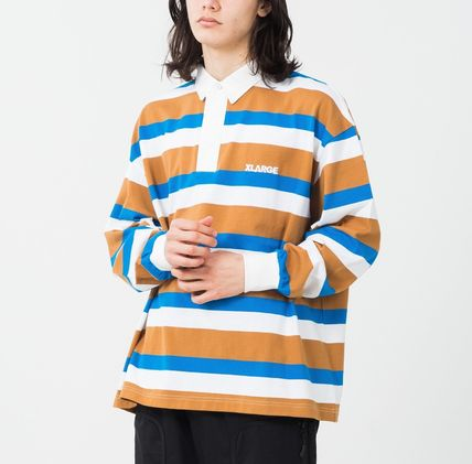X-Large Polos Stripes Long Sleeves Cotton Polos Polos 2