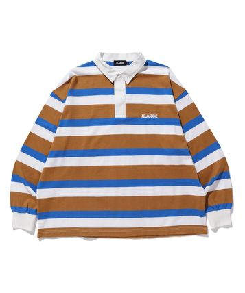 X-Large Polos Stripes Long Sleeves Cotton Polos Polos 3