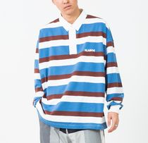X-Large Polos Stripes Long Sleeves Cotton Polos Polos 6