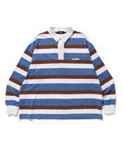 X-Large Polos Stripes Long Sleeves Cotton Polos Polos 7
