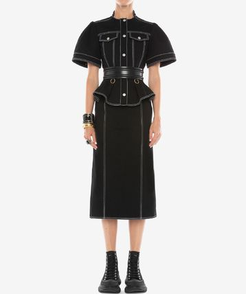 alexander mcqueen Pencil Skirts Flared Skirts Casual Style Denim