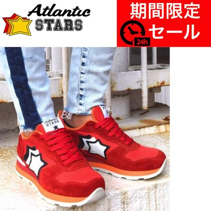 Star Suede Blended Fabrics Street Style Leather Handmade