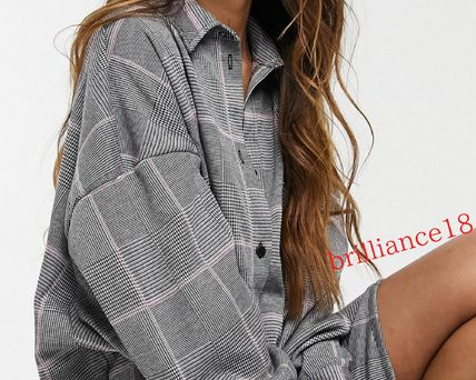 ASOS Short Other Plaid Patterns Long Sleeves Dresses