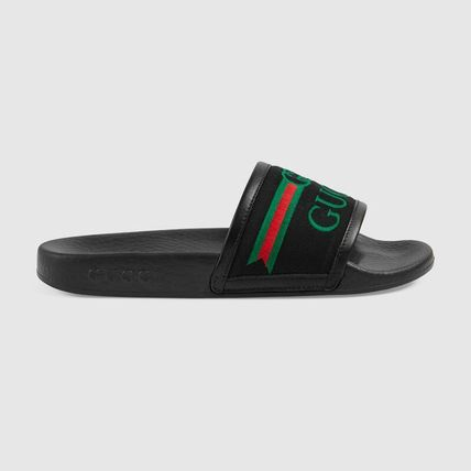 GUCCI Blended Fabrics Kids Girl Sandals