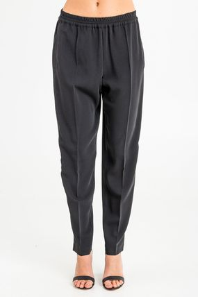 Plain Medium Elegant Style Pants