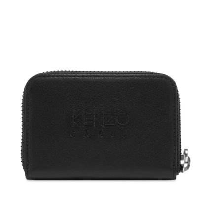 KENZO Leather Logo Coin Cases