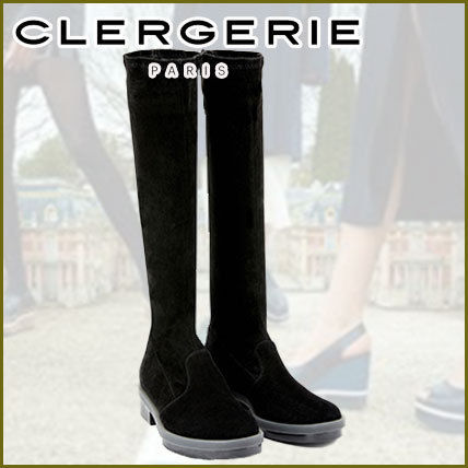 Robert Clergerie Square Toe Platform Round Toe Rubber Sole Casual Style