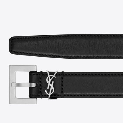 Saint Laurent Formal Style  Logo Casual Style Leather Street Style