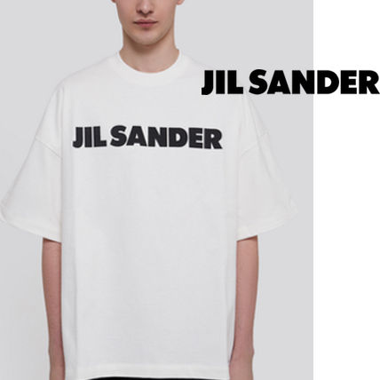 Jil Sander Crew Neck Crew Neck Pullovers Street Style Plain Cotton Short Sleeves