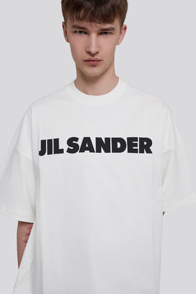 Jil Sander Crew Neck Crew Neck Pullovers Street Style Plain Cotton Short Sleeves 2