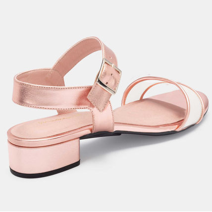 Open Toe Platform Pin Heels Mules Strap Sandals