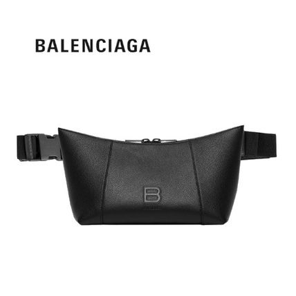 BALENCIAGA Unisex Calfskin Street Style Plain Leather Crossbody Bag