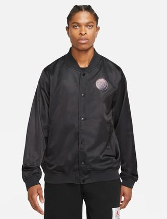 Nike AIR JORDAN Short Street Style Collaboration Plain Coach Jackets Logo