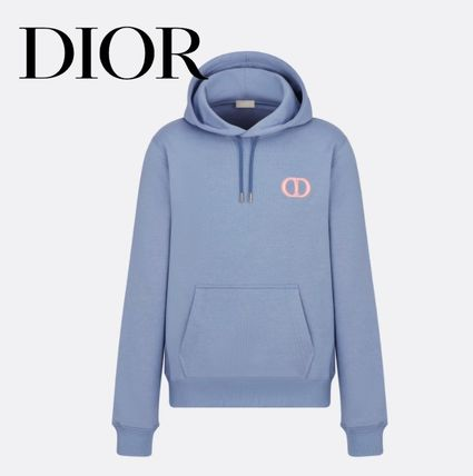 Christian Dior Hoodies Long Sleeves Plain Cotton Logo Luxury Hoodies