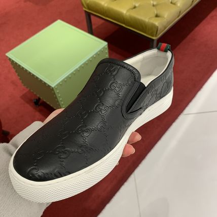 GUCCI Street Style Leather Logo Sneakers