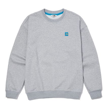 THE NORTH FACE Sweatshirts Crew Neck Pullovers Unisex Street Style U-Neck Long Sleeves