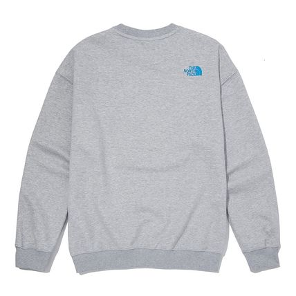 THE NORTH FACE Sweatshirts Crew Neck Pullovers Unisex Street Style U-Neck Long Sleeves 2