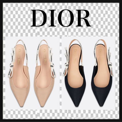 Christian Dior JADIOR Plain Mules Logo Pointed Toe Shoes