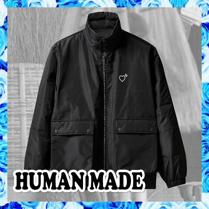 HUMAN MADE Heart Unisex Street Style Collaboration Plain Oversized Logo