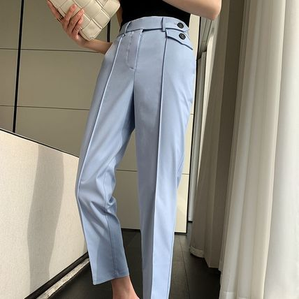 Casual Style Street Style Plain Medium Long Party Style