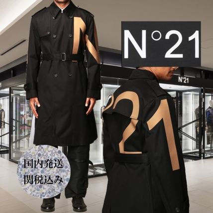 Long Logo Trench Coats
