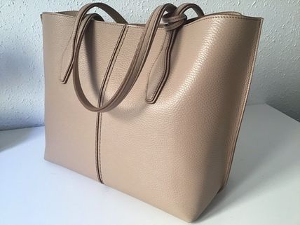Casual Style Unisex Calfskin A4 2WAY Plain Leather