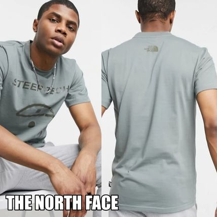 THE NORTH FACE More T-Shirts Street Style Plain Cotton Short Sleeves Logo Outdoor