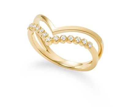 Casual Style 18K Gold Office Style Elegant Style Rings