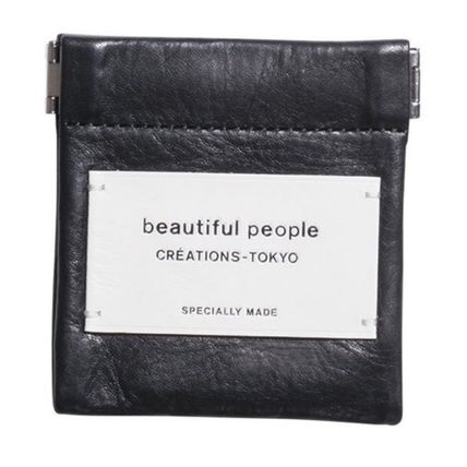 Casual Style Unisex Plain Leather Logo Accessories